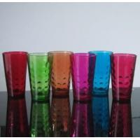Drinking Glasses Machine Made 16 Oz Colored Pint Glass Cup With Embossed Pattern