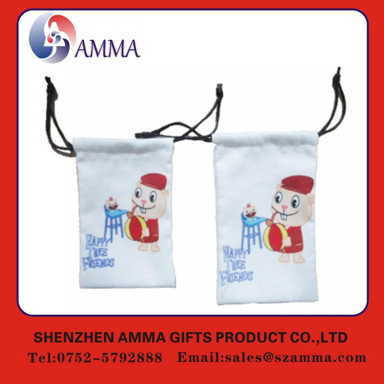 Buy cheap Microfiber cleaning pouch Printed colorful microfiber cleaning pouch from wholesalers