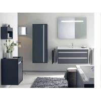 Buy cheap Lowes PVC Wash Basin Bathroom Mirror Cabinets Vanity Combo with Light from wholesalers