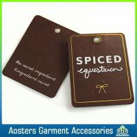 Buy cheap Customized Clothing Old Fashioned Perforated Kraft Hang Tags from wholesalers
