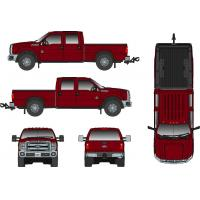 Buy cheap Trucks Ford F250 Pickup w/Crew Cab & 6ft Bed - RHD - Burgundy Item Number:SW1200-RHD-VB from wholesalers