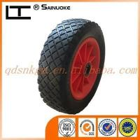 Buy cheap Rubber Wheels 260x80mm PU Foam Garden Trolley Wheel product