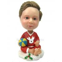 Buy cheap Custom bobbleheads baby figure with ball from wholesalers