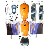 Buy cheap Tricycle F072 FUEL TANK AND SIDE COVER-2 from wholesalers
