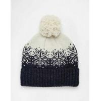 Buy cheap ASOS Bobble Beanie in Navy And Ecru Lambswool with Fair Isle Design Men O56s8075MF7 from wholesalers