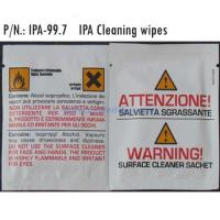 Buy cheap Fiber optic Tools and accessories Pre-Moistened Acohol Wipes IPA-99.7 from wholesalers