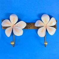 Buy cheap Decor - Tropical Plumeria Decorative Double Metal Wall Hook Pink 96-2-750 product
