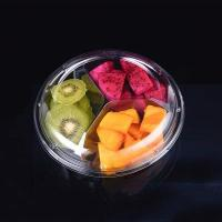 Buy cheap 400g 3-Compartment Clear Plastic salad bowl from wholesalers