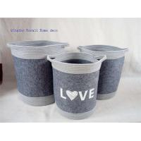 Buy cheap Grey felt laundry baskets with handles from wholesalers