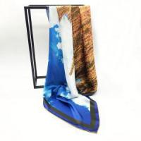 Buy cheap Digital Printing Square Silk Satin Scarves from wholesalers