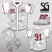 Buy cheap CLEARANCE 91 GEEKS Baseball Jersey to match Jordan 6 Alternate 91 from wholesalers