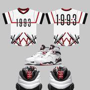 Buy cheap CLEARANCE 1993 V-Neck Baseball Jersey to match Jordan 8 Alternate from wholesalers
