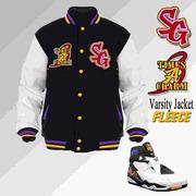 Buy cheap CLEARANCE 3 Time's A Charm Fleece Varsity Jacket to match Jordan 8 TTAC from wholesalers