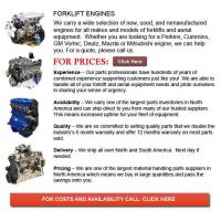 Buy cheap Forklift Parts For Sale Engines for Forklift from wholesalers