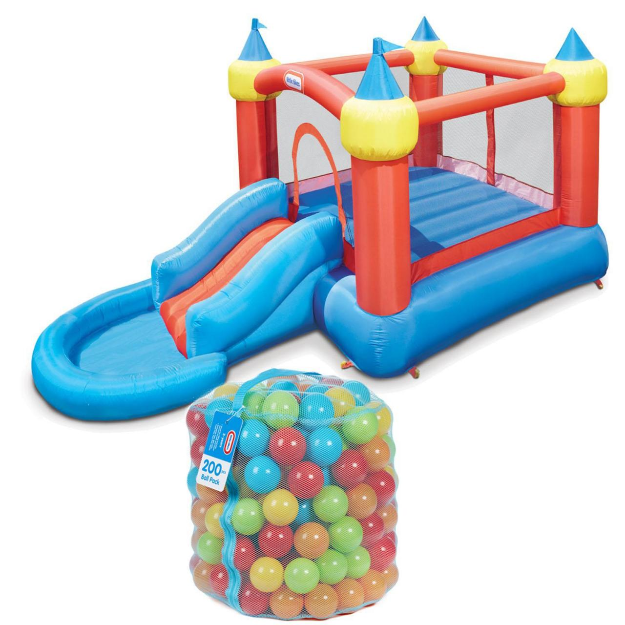 Buy cheap Bounce Castle Slide Into Ballpit with 200 Piece Ball Pack from wholesalers