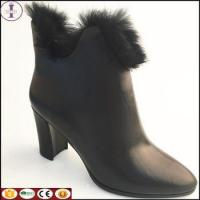 Buy cheap HOT HOT HOT SALE women boots 2018 fashion design leather wedge heel boots with fur from wholesalers