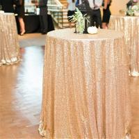 Buy cheap Gold Sequin Table Cloth from wholesalers