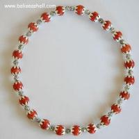 Buy cheap Shell necklace bead necklace bead red coral from wholesalers