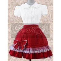 Buy cheap White Short Sleeves Blouse And Red Lolita Skirt from wholesalers