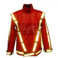 Buy cheap Michael Jackson Thriller Jacket in Red with Yellow Reflective from wholesalers