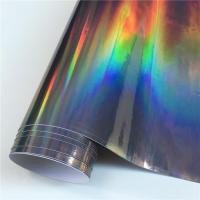 Buy cheap Black Chrome Holographic Vinyl Wrap Car Film from wholesalers