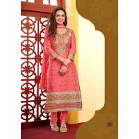 Buy cheap Designer Suits multicolored ethnic printed un-stitched dress material from wholesalers