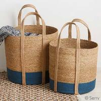 Baskets Two-Tone Nesting Floor Totes Item #: 46115