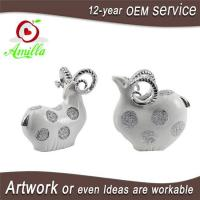 Buy cheap White with Silver and Gloden Polyresin Sheep Figurines for Home Decorations product