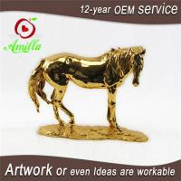 Buy cheap Golden Polyresin Horse Statues for Sale Horse Decorations for Home Collectibles from wholesalers