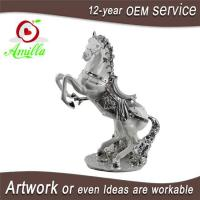 Buy cheap Collectible Silver Resin Horse Sculptures Home Offce Ornaments for Sale from wholesalers