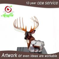 China Large Antique Polyresin Deer Head Figurine for Home Office Shop Table Decoration on sale