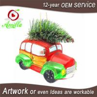 Buy cheap Hand Blown Glass Car Ornaments For Christmas Trees Hanging Decorations from wholesalers