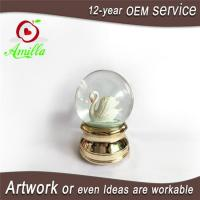 Buy cheap 100mm Resin Animal White Musical Swan Water Ball Figurine And Gift from wholesalers