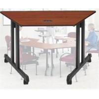 Buy cheap Mobile Trapezoid Training Tables - 48 Trapezoid Table from wholesalers