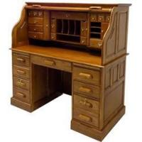 Buy cheap 53-3/4W Deluxe Oak Roll Top Desk - In Stock! from wholesalers