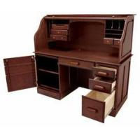 Buy cheap Ergonomic Chairs 60W Solid Oak Rolltop Computer Desk in Cherry Finish - In Stock! from wholesalers