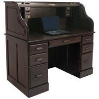 "Buy cheap 54""W Deluxe Solid Oak Laptop Roll Top Desk product"