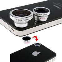 Buy cheap 3 Lens Wide Lens and Macro Lens and Fish Eye Lens for Samsung HTC Cell Phones from wholesalers