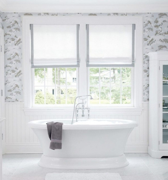 Quality gray bathroom window curtains for sale