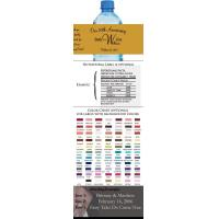 Buy cheap 50th Wedding Anniversary Water Bottle Labels from wholesalers