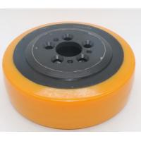 Buy cheap Truck Wheel Tow Tractors Driving Cast Steel Yellow High Quality PU Wheel product