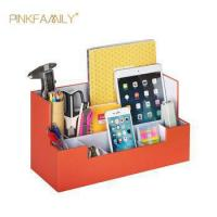 Buy cheap Office Desk Leather Stationery Organizer Tool Pen Pencils Holder Storage Box from wholesalers