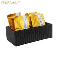 Wholesale Fancy leather Tea Boxes Tea Bag Holder Tea Bag Box for Hotel