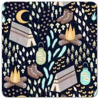 Buy cheap Moonlight Campout Cotton Spandex Knit Fabric from wholesalers