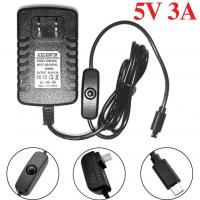 Accessories 5V 3A Power Supply Charger for Raspberry Pi with Switch ON/OFF