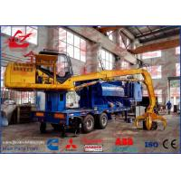 Buy cheap Mobile Scrap Metal Baler Logger With Trailer and Feeding Grab from wholesalers