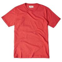 Red Garment Dyed T Shirt