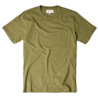 Olive Garment Dyed T Shirt