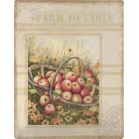 Cabin Accents Apple Harvest Basket Throw SAAHB
