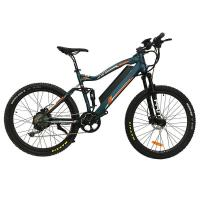 Buy cheap 27.5 full suspention rear dirve hidden battery MTB electric bicycle from wholesalers